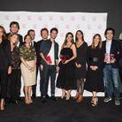 Les lauréats accompagnés de la rédaction du ELLE