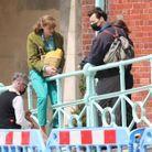 Emma Corrin et Harry Style sur le tournage à Brighton