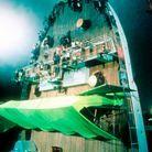 Un écran vert sur la proue du bateau pour réaliser la scène du naufrage