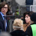 Les deux acteurs sur le tournage du film