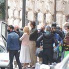 Camille Cottin et Adam Driver sur le tournage