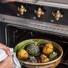 Menu du jour concocté par William : petits farcis de courgettes du potager.