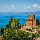 Le lac d'Ohrid, en Macédoine