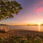 Coucher de soleil au Tokoriki Island Resort, sur l'archipel Mamanuca.