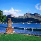 Une statue tiki sur l'île Hiva Oa.