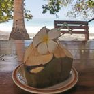 Siroter une eau de coco