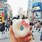 Un délicieux donut kawaï photographié au carrefour de Shibuya