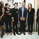 Constance Benqué (CEO ELLE), Françoise-Marie Santucci (Directrice de la rédaction ELLE) et Olivia de Lamberterie (ELLE) entourées des lauréats...