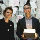 Françoise-Marie Santucci (ELLE) et Anthony Marra, lauréat du Roman pour «Une constellation de phénomènes vitaux» (Ed. JC Lattès)