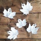 DIY Halloween Enfant avec des feuilles