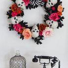 DIY Halloween Enfant de  guirlandes têtes de morts