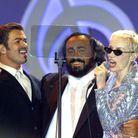 Avec Pavarotti et Annie Lennox