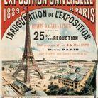 Affiche du Chemin de fer Paris Lyon Méditerranée pour l'Exposition universelle de 1889
