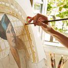 Portrait d'Helenita en cours de réalisation