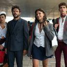 Carla Díaz (Ari), Diego Martín (Benjamin), Martina Cariddi (Mencia) et Manu Rios (Patrick)