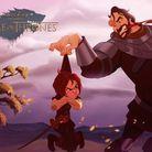 Arya Stark et Sandor Clegane