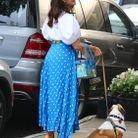 Kristin Davis promène un adorable chien