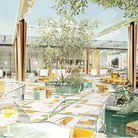 Perruche, la nouvelle terrasse sur le toit du Printemps Haussmann