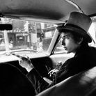Bob Dylan WithTop Hat Pointing In Car Philadelphia PA 1964