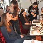 La séance maquillage