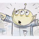 Croquis de Squeeze Toy Alien dans « Toy story »