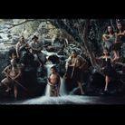 Eru, Hone Mikaka, Erene Mikaka, Robert, Tani Mikaka, Eru, Te Aroha Mikaka & Sky, Bay of Islands, Haruru falls, North Island, New Zealand, 2011