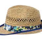 Chapeau de paille bleu Catimini
