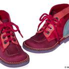 Chaussures montantes en croûte de cuir Kickers