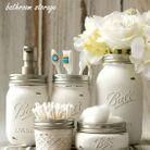 Bricolage fête des mères des pots pour la salle de bain