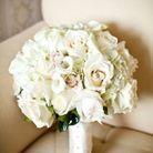 Bouquet de fleurs blanches rond
