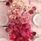 Bouquet de roses fuchsias