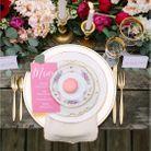 Décoration de table de mariage bohême