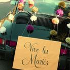 Décoration voiture mariage luxe