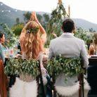 Chaise de mariage bohème