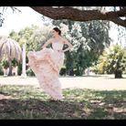 Robe rose pêche Leila Hafzi