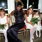 La robe de demoiselle d'honneur de Naomi Campbell au mariage de Kristen McMenamy et Miles Aldridge en 1997