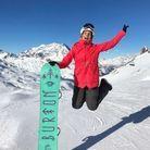 Marine Lorphelin fait du snow board