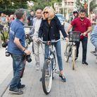Brigitte Macron à vélo