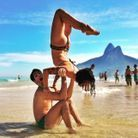 Yoga en couple pilates
