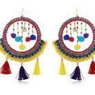 Boucles d'oreilles pompon Rosantica