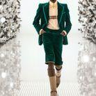 Bombe d'équitation Gucci + ensemble vert