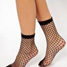 Socquettes résille à motif oversize ASOS