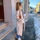 Baskets Asics + manteau fausse fourrure