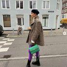Le legging fluo avec des bottines