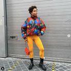 Le legging fluo avec une doudoune