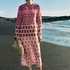 Robe longue imprimé seventies Zara