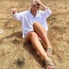 Sandale à cordes avec chemise blanche