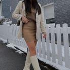 Boots blanches en caoutchouc
