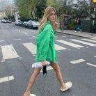 Chemise verte de Camille Charrière