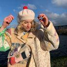 Veste matelassée patchwork + bonnet à pompon